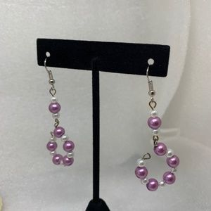 🌸 4/$25 🌸 Pink and White Pearl Dangle Earrings